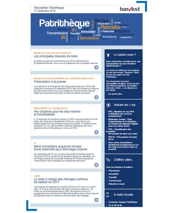 Newsletter Patrithèque